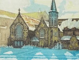Artwork by Nicholas Hornyansky, Old St. Paul's, Toronto