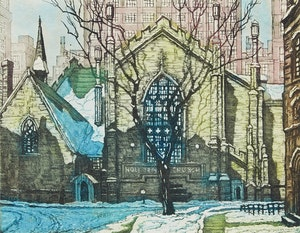 Artwork by Nicholas Hornyansky, Holy Trinity Church, Trinity Square, Toronto