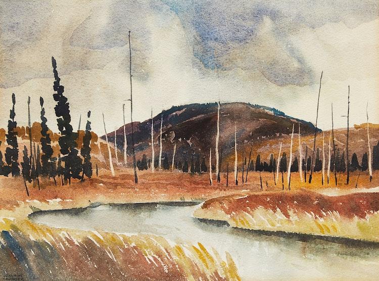 Artwork by Joachim George Gauthier,  Autumn Landscape