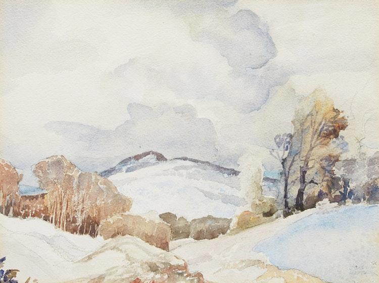 Artwork by Joachim George Gauthier,  Winter Landscape