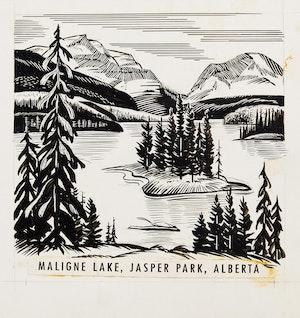 Artwork by  Canadian School, Provincial Landmarks
