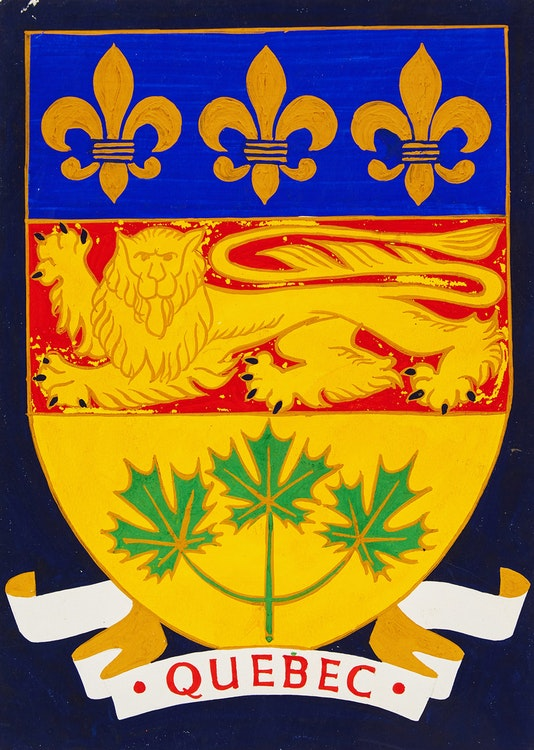 Artwork by Alfred Joseph Casson,  Provincial Crest of Quebec