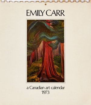 Artwork by Emily Carr, 1973 Calendar with Print Proofs
