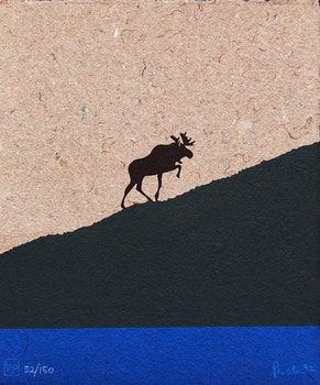 Artwork by Charles Pachter, Charles Pachter; The Ascent