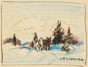 Artwork by Frederick Simpson Coburn, Logging, Eastern Townships
