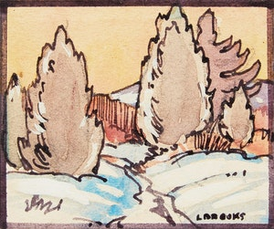 Artwork by Frank Leonard Brooks, Winter Landscape