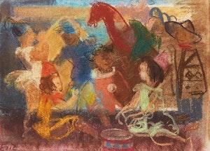 Artwork by Lillian Freiman, Circus Scene