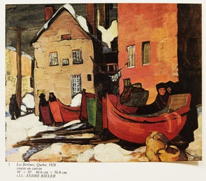 "Artwork by André Charles Biéler, Andre Bieler: An Artist's Life and Times; ""Mon Voisin"""