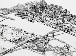 Artwork by Enid Robbie, Montreal, 1976 (In Praise of Cities 6, 5/5)