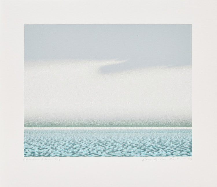 "Artwork by Christopher Pratt,  David Silcox and Meriké Weiler ""Christopher Pratt""; Christopher Pratt ""Western Shore"""