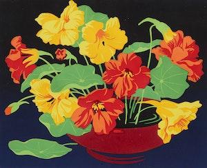 Artwork by Alfred Joseph Casson, Nasturtiums