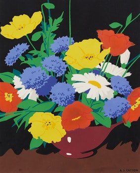 Artwork by Alfred Joseph Casson, Bouquet