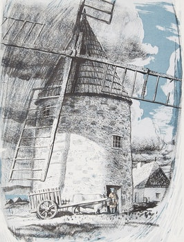 Artwork by George Franklin Arbuckle, Seignorial Mill