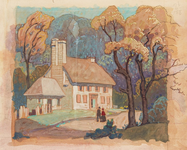 Artwork by Stanley Francis Turner,  Three Works: Sillery (Jesuit House); Château Richer, Quebec; English Church from City Hall