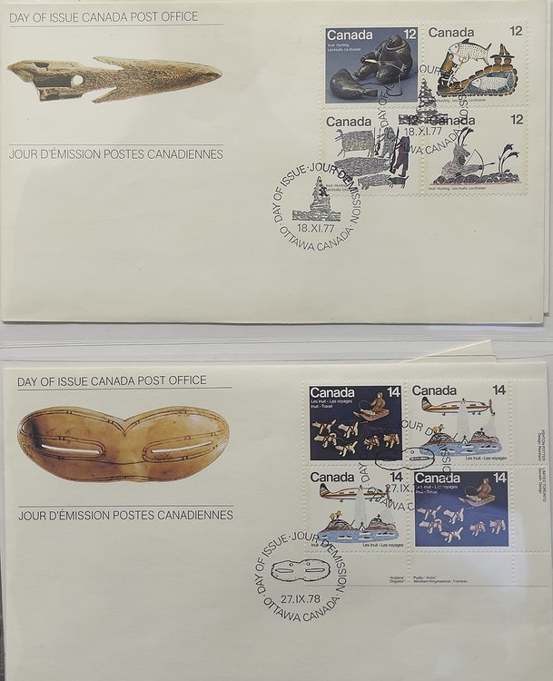 Artwork by  Books and Reference,  Collection of First Nations & Indigenous First Day Covers and Centennial Stamp Box
