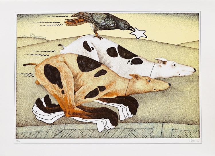 Artwork by Dennis Geden,  Star Juggler; Still Life; Crow Messenger; Quiet Horse; Thumb Twiddler