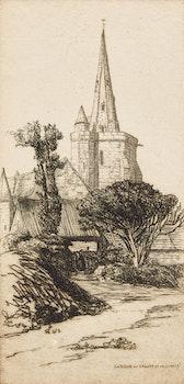 Artwork by Caroline Helena Armington, La Fléche de L'Eglise de la Clarte; An Old Court Venice; Ponte Malpaga Venice