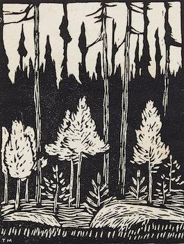 Artwork by Thoreau MacDonald, New Growth