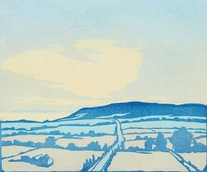 Artwork by Leonard Hutchinson, Road to Niagara; Loggers