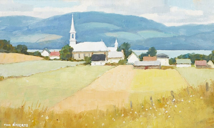 Artwork by Thomas Keith Roberts,  St. Aubert in Summer