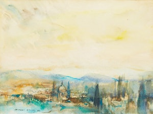 Artwork by Frank Leonard Brooks, Dawn, San Miguel de Allende