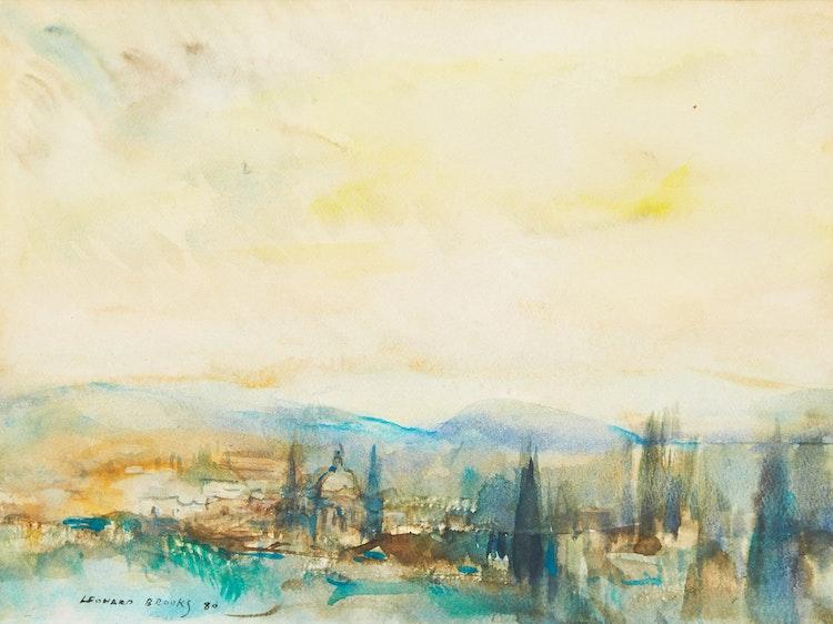Artwork by Frank Leonard Brooks,  Dawn, San Miguel de Allende