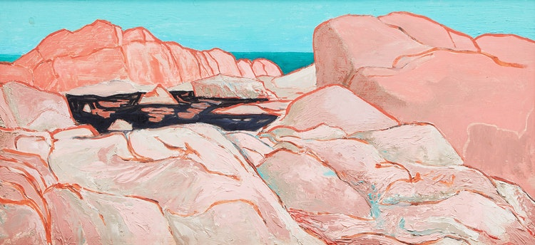 Artwork by Henry Orenstein,  Rocky Shoreline