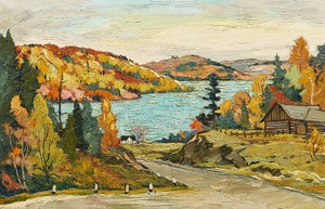 Artwork by Adolphus George Broomfield, Road to Barry's Bay, Ontario