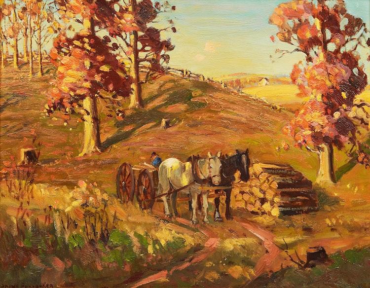 Artwork by Frank Shirley Panabaker,  Le retour du fermier