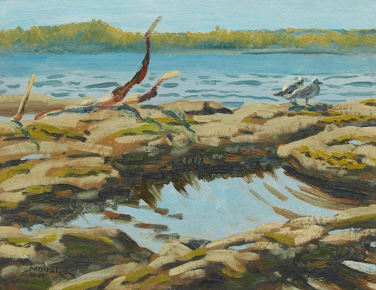 Artwork by John Moyers,  Coastal Landscape