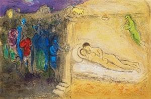 Artwork by Marc Chagall, Hyménée from Daphnis and Chloé (Cramer 46, Mourlot 349)