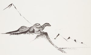 Artwork by Benjamin  Chee Chee, Sea Otter; Mountain Sheep