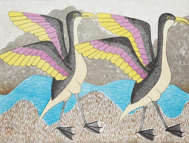 Artwork by Kenojuak Ashevak,  Timiatjuak