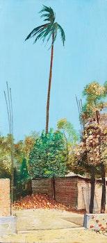 Artwork by William Kurelek, Mexican Coconut Factory