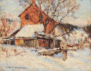 Artwork by Manly Edward MacDonald, York Mills House in Winter