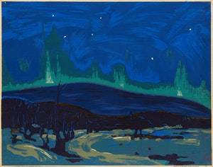 Artwork by Tom Thomson, Northern Lights