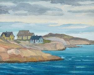 Artwork by George Henry Griffin, Coastal Landscape