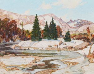 Artwork by Hal Ross Perrigard, High Water - Springtime, Eastern Townships