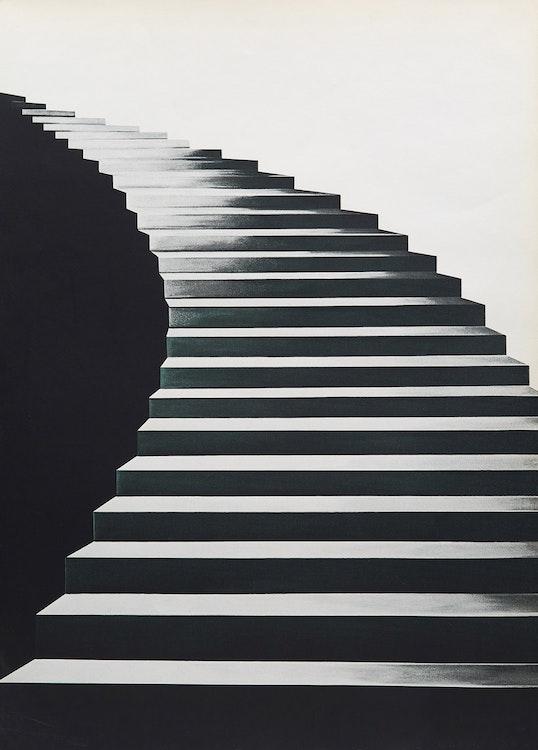 Artwork by Lowell Blair  Nesbitt,  Staircase