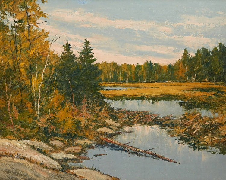 Artwork by Wilf Frank Griffiths ,  Beaver Dam, Muskoka