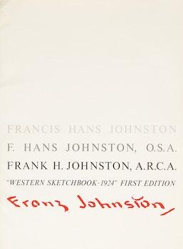 Artwork by Frank Hans Johnston, Franz Johnston: Western Sketchbook - 1924