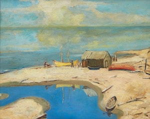 Artwork by Frank Shirley Panabaker, On the Beach, Chaleur Bay