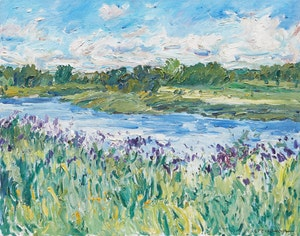 Artwork by Bruce Steinhoff, Clouds and Flowers, Saugeen River