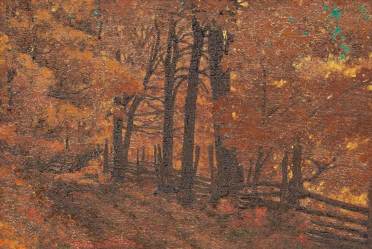 Artwork by Frank Hans Johnston,  Golden Canopy