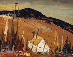Artwork by Louis Tremblay, Campement Montagnes, Rivière Nabisipi