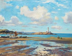 Artwork by Thomas Hilton Garside, Metis Lighthouse, Leggett's Point