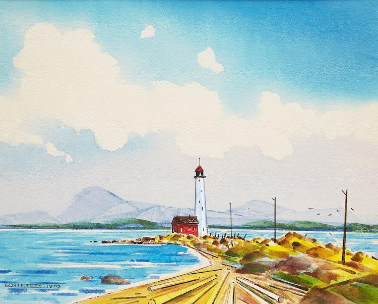 Artwork by Robert N. Hurley,  Coastal Landscape