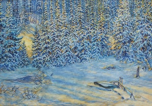 Artwork by Lawrence Nickle, Winter Landscape