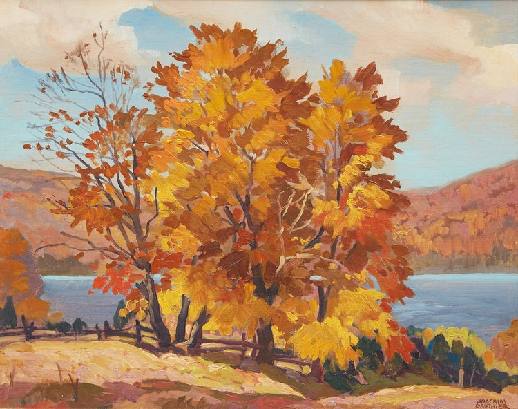 Artwork by Joachim George Gauthier,  Autumn, Purdy Lake (near Combermere)