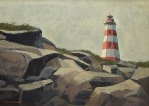 Artwork by Alan Caswell Collier, West Head Light, Briers Island Off Digby Neck, N.S.